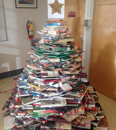 Our Book Christmas tree 2017