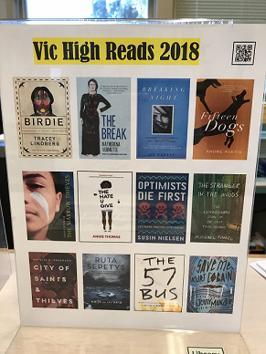 Vic High Reads 2018 – student long list — which book & class will win?
